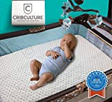 Best All-in-1 Waterproof Pack N' Play: Baby Mattress Pad & Fitted Sheet, Heat-Resistant, Highly Durable for 300+ Washes, Hypoallergenic, for Mini, Portable, Convertible Crib Mattresses, 27'' x 39''