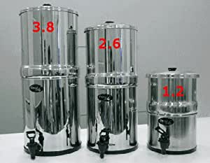 Amazon Com Stainless Steel Gravity Water Filter Body Only