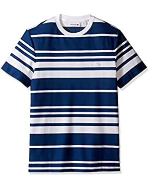 Men's Textured Waffle Stripe T-Shirt