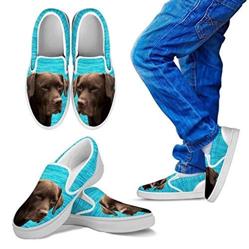 Pet Animal Designs Labrador Retriever (Chocolate) Print-Slip Ons for Kids