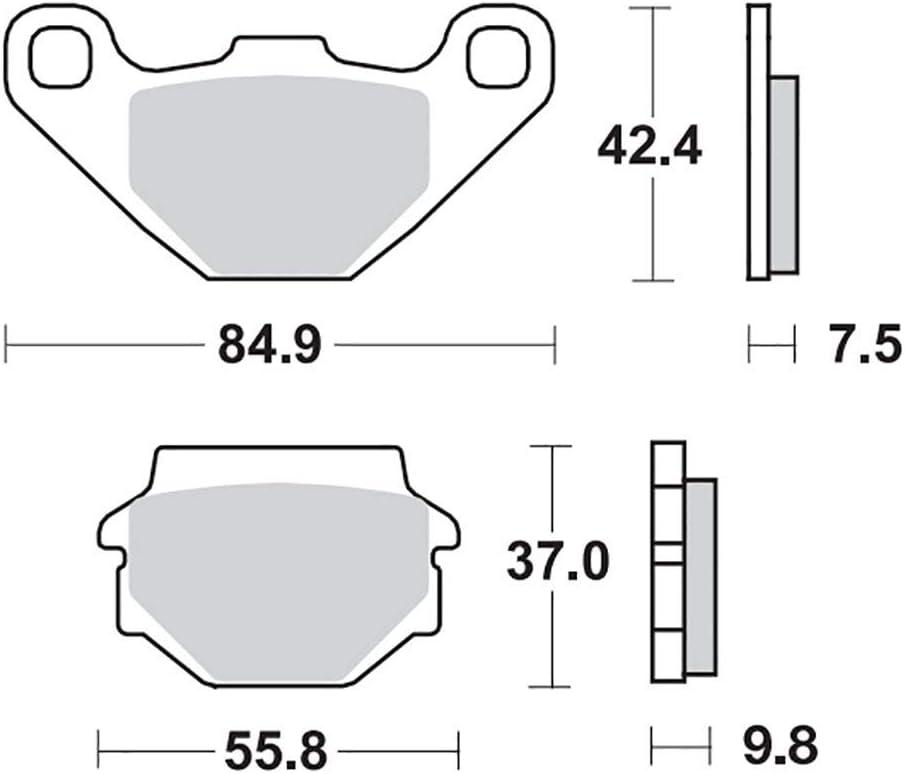 Bremsbelag Moto-Master RoadPRO Ceramic KLE 500 LE500A 91-04 hinten