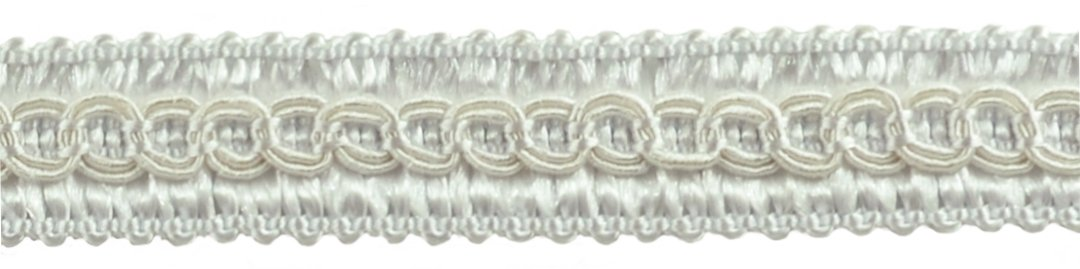 DÉCOPRO 54 Yard Package of 1/2 inch Basic Trim Decorative Gimp Braid, Style# 0050SG Color: White - A1 (164 Ft / 50 Meters) by DÉCOPRO