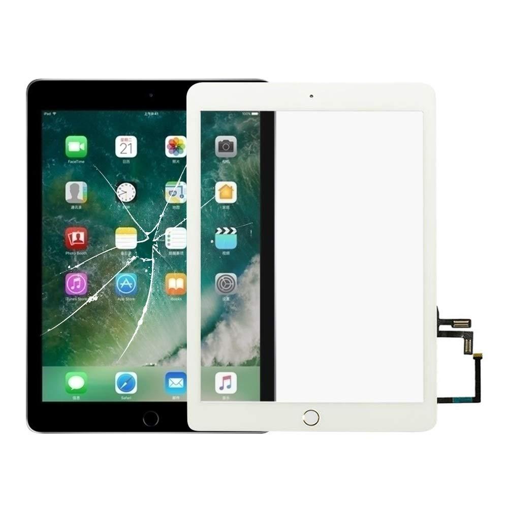 ZhiYuan Touch Panel with Home Key Flex Cable for iPad 5 9.7 inch 2017 A1822 A1823 Replacement (Black) Durable (Color : Gold)