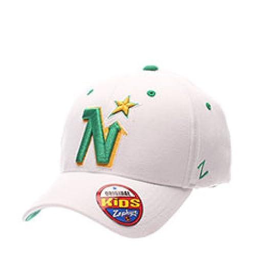 31b598fdedd Men s White ZFit Minnesota North Stars FlexFit Zephyr Hat Cap (X-Small (