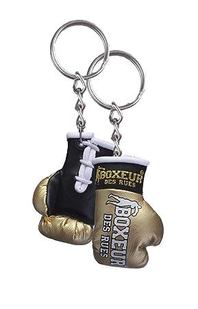 BOXEUR DES RUES BX-GK01A Llavero Guante de Boxeo, Adultos Unisex, Dorado, U