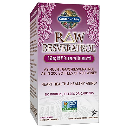 512Z%2B9qPObL - Garden of Life Heart Resveratrol Supplement - Raw Whole Food Antioxidant Formula for Heart Health, 60 Capsules
