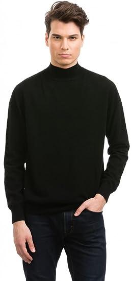 Citizen Cashmere Mens Mock Turtleneck 100 Cashmere Black At