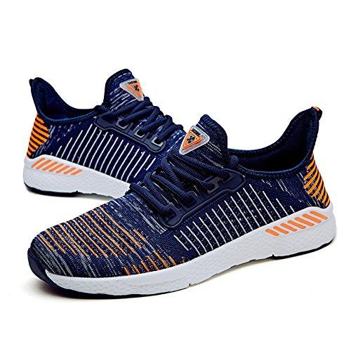 Men's Trail Running Chaussures pour Hommes Chaussures de bande respirante confort homme Light chaussures de course chaussures de sport hommes adultes Orange