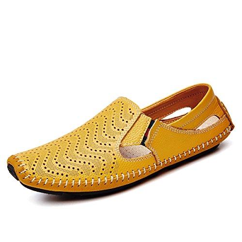 Secado De Yellow Rápido LXXAMens Sandalias Cuero Zapatos Atletismo Trekking Real Zapatillas Verano De Playa De xCqgYR