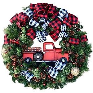 Ghirlanda di Natale, simulazione di coni di pino artificiali per auto, 45 cm, decorazione creativa per auto, casa, Natale, Ringraziamento, decorazione da appendere 6 spesavip