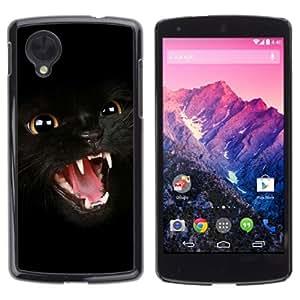 YOYOSHOP [Dark Panther Cat] LG Google Nexus 5 Case