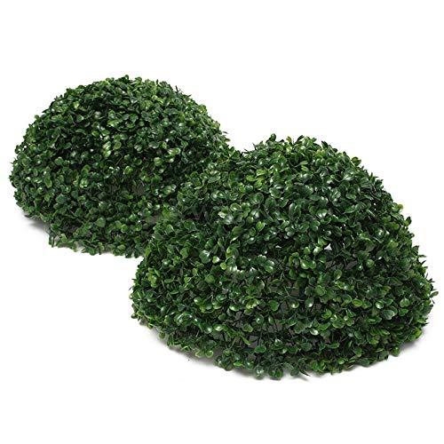 PatyHoll Afbc 35cm Plastic Conifer Topiary Tree Green Leaf Effect Ball Hanging Home Decor Interior Design