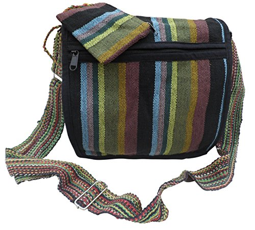 BEACH COTTON TRADE BAG PURSE FAIR Black BOHO SHOULDER amp; HIPPY Multi GHERI TRAVEL FESTIVAL amp; atfwWqw5p