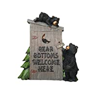 Goodman and Wife Poly Resin Decorative Wall Plaque Bear Bottoms Welcome for That Country Garden Home