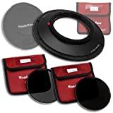 Fotodiox WP145-NDKit-CA815 WonderPana 145 ND Kit, 145mm Filter Holder, Lens Cap, ND16 and ND32 Filters for Canon 8-15mm EF F/4L Fisheye Lens, Full Frame (Black)