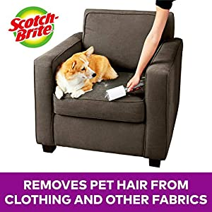 Scotch-Brite Pet Extra Sticky Hair Lint Roller, 4, 400 Sheets (Tamaño: 4 Rollers, 400 Sheets)