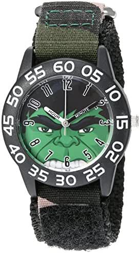 Marvel Boy's 'Hulk' Quartz Plastic and Nylon  Watch, Color:Green (Model: W003251)