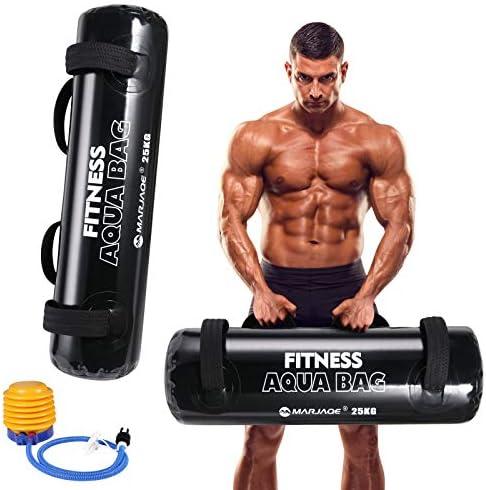 Flintronic Fitness water bag, Home Gym, Portable Weight, Allenamento di Pesanti Sacchi di Acqua per Fitness, Casa, Palestra, Yoga, Fitness Funzionale(Pompa a Pedale Inclusa)