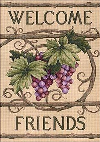 Dimensions Needlecrafts Counted Cross Stitch, Welcome Friends