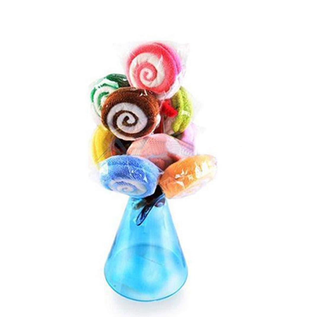 strimusimak asciugamano doccia colore casuale Candy Lollipop forma matrimonio regalo Random