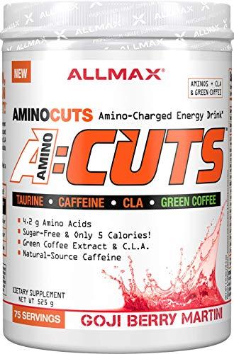 ALLMAX Nutrition, AMINOCUTS (ACUTS), Weight-Loss BCAA (CLA + Taurine + Green Coffee), Goji Berry Martini, 525 g