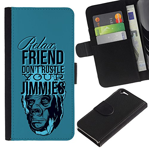 "EuroCase - Apple Iphone 6 4.7 - ""Funny - Relax Friend - Cuir PU Coverture Shell Armure Coque Coq Cas Etui Housse Case Cover"