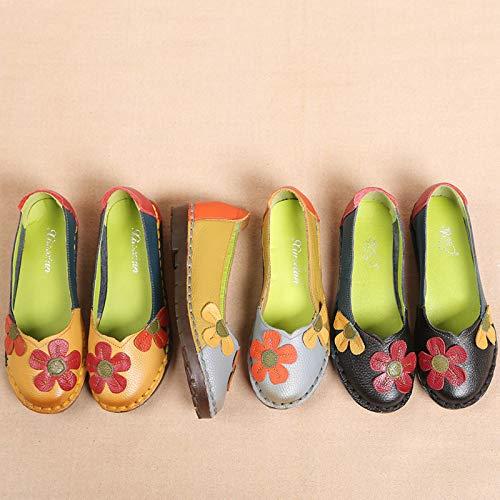 La À Chaussures Plates Simples Pour Faites Grey Main Confortables Wlfhm Femmes qXI4xXB