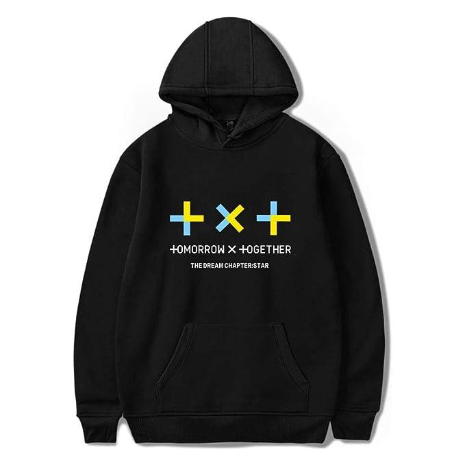 TXT Sudaderas con Capucha Unisex KPOP Tomorrow X Together Hoodies HUENINGKAI SOOBIN YEONJUN TAEHYUN BEOMGYU Fans Cheer Sudadera Chaqueta: Amazon.es: Ropa y ...
