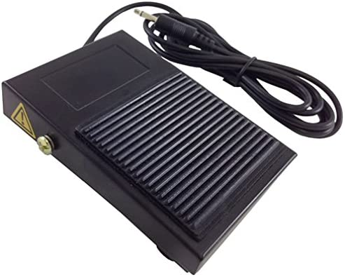 StealthSwitch FS-2 Foot Pedal - Momentary Contact Footswitch (3.5mm (⅛ Inch) Mono Audio Cable 6 Feet)