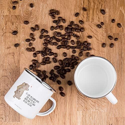 Emaille Becher Tasse Kaffeebecher Papa Bär Spruch mein größter Held eb486