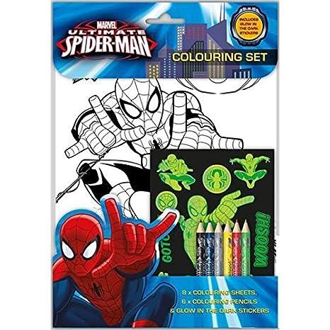 Marvel Ultimate Spider Man Da Colorare Glow Al Buio Per Bambini