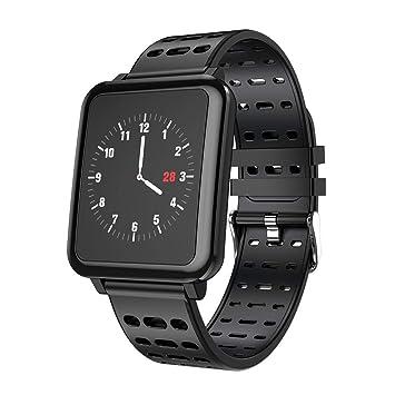 Pulsera Actividad para Hombre Mujer,Pulsera Reloj Inteligente con Pulsómetro Impermeable Podómetro Monitor de Ritmo Cardíaco Monitor de Sueño: Amazon.es: ...
