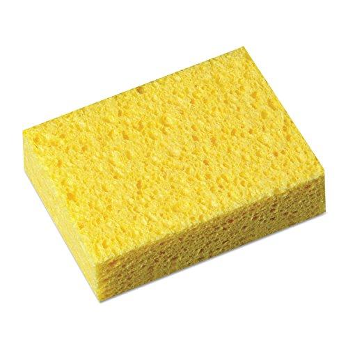 "Boardwalk 16320 Scrubbing Sponge, 3 3/5"" x 6 1/10"", 7/10"" Thick, Yellow/White (Case of 20)"