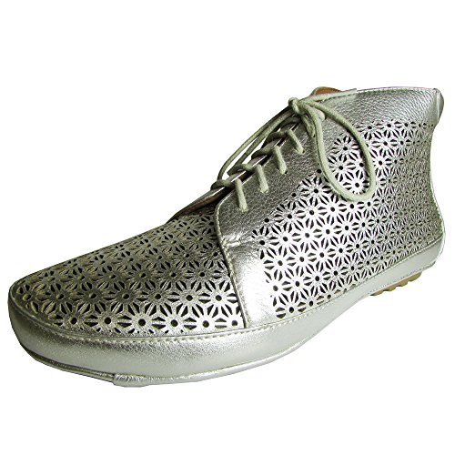 Gentle Souls Women's Sole Cute Silver Metallic Lamba Boot 8 M by Gentle Souls