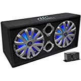 NYC Acoustics NSE212L Dual 12 1800W Powered/Amplified Car Subwoofer System + LED