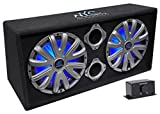 "NYC Acoustics NSE212L Dual 12"" 1800W Powered/Amplified Car Subwoofer System + LED"