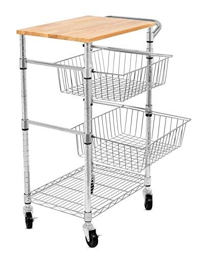 Internet 39 S Best 3 Tier Kitchen Cart With Wire Baskets