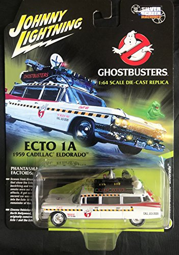 Johnny Lightning - Ghostbusters' Ecto 1A, a 1959 Cadillac Eldorado as a diecast car, Scale 1/64 from Johnny Lightning