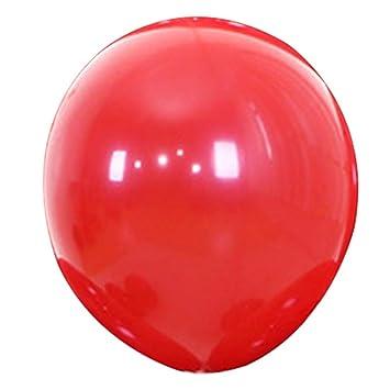 Fansi Lot De 50 Ballons En Latex Rouge Rubis 254 Cm