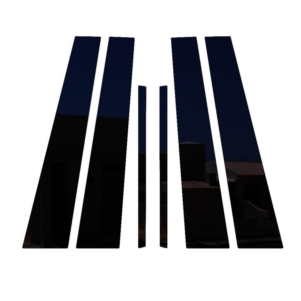 Ferreus Industries Piano Black Pillar Post Trim Cover fits: 2008-2012 Chevy Malibu All Models PIL-050-GB