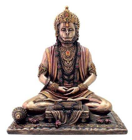 Collectible India Porcelain Hanuman Idol (23.7 cm x 21.3 cm x 20.3 cm)