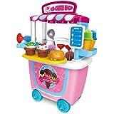 barbacoa juguete BBQ Ice Cream Cart Play Set Juego de estuches de barbacoa para niños pequeños, el mejor regalo de juguete…