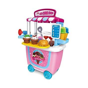 Carro pequeño Supermarket – Carrito para barbacoa/helado / carrito de herramientas Pretendente juego de