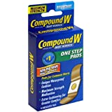 Compound W Wart Remover One Step Pads - Maximum Strength - Waterproof, Medicated, Self-Adhesive Pads Conceal & Protect Common & Plantar Warts While Treating them with Salicylic Acid – 2 Packs of 14