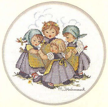 JCA Hummel Needle Treasures Counted Cross Stitch kit - Ring Around Rosie