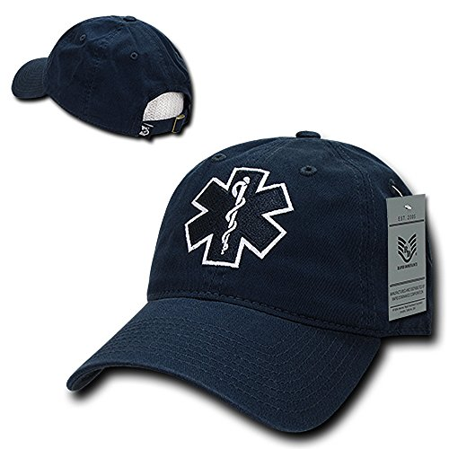 Rapid Dominance EMT Embroidered Low Profile Soft Cotton Baseball Cap - Navy