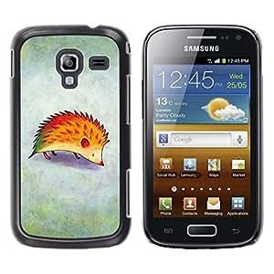 Caucho caso de Shell duro de la cubierta de accesorios de protección BY RAYDREAMMM - Samsung Galaxy Ace 2 I8160 Ace II X S7560M - Drawing Red Fog Kids