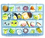 Life Made Better Toy Organizer. Fits Up to 30 Squishy Phone Charms. Compatible With Ithee Charm Keychain, Random Jumbo Mini Soft Squishy, Trasfit Phone Charm Key Chain Strap- Blue