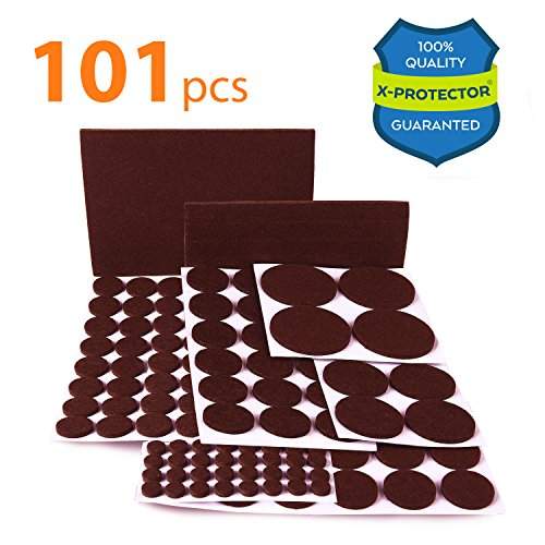 High Quality Wood Furniture (X-PROTECTOR Premium CLASSIC Pack Furniture Pads 101 piece! Felt Pads Furniture Feet  Your Best Wood Floor Protectors. Protect Your Hardwood & Laminate Flooring with 100% Satisfaction!)
