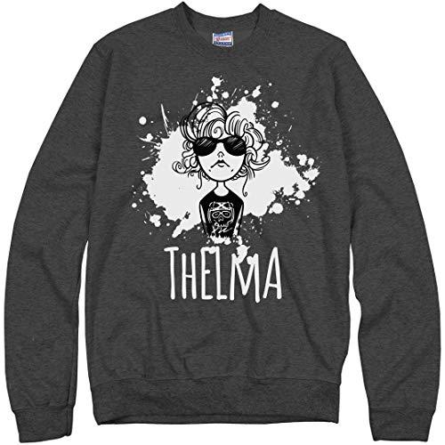 Thelma E Louise Halloween (Customized Girl Thelma Louise Bestie 1: Unisex Ultimate Crewneck Sweatshirt Charcoal)